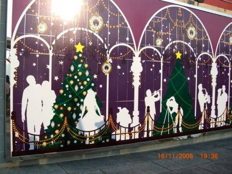 christmas on a wall