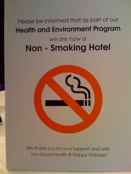 non-smoking hotel
