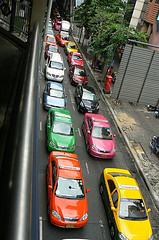 the colourful cabs