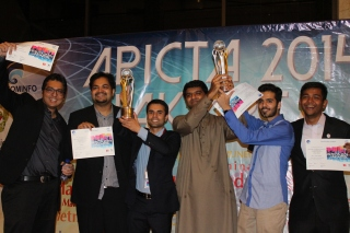 The winners from Pakistan at APICTA 2014